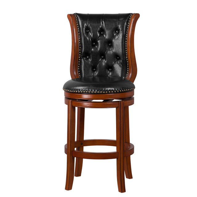 Flash Furniture 30 High Wood Barstool With Leather
