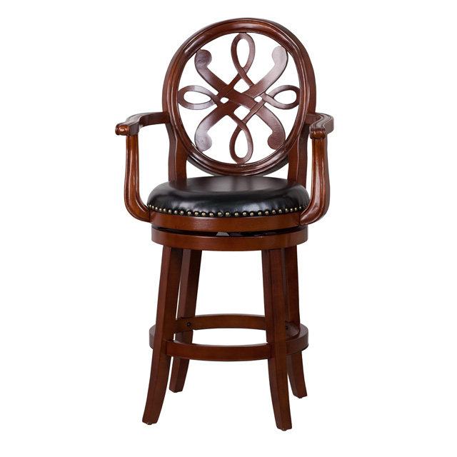 26 Quot Cherry Wood Stool W Arms Ta 550226 Chy Gg Bizchair Com